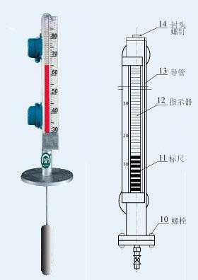 厂家直销-顶装式磁性浮子液位计